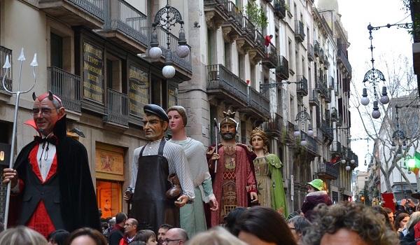 Feesten van Santa Eulalia in Barcelona