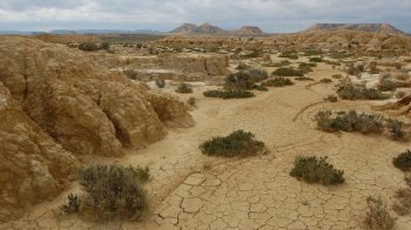 Halfwoestijn Bardenas Reales in Navarra