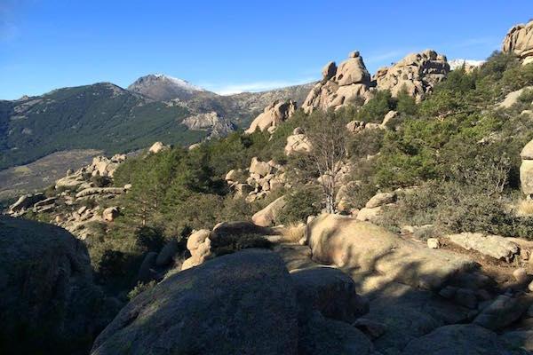 Natuurgebied La Pedraza bij Manzanares el Real in Madrid