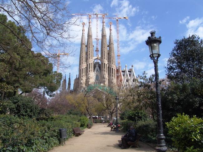 Gaudi's Sagrada Familia in Barcelona