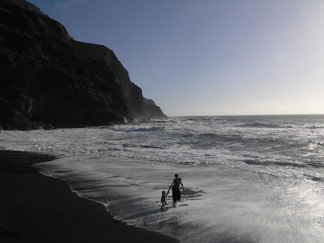Een strand op het Canarische eiland La Gomera