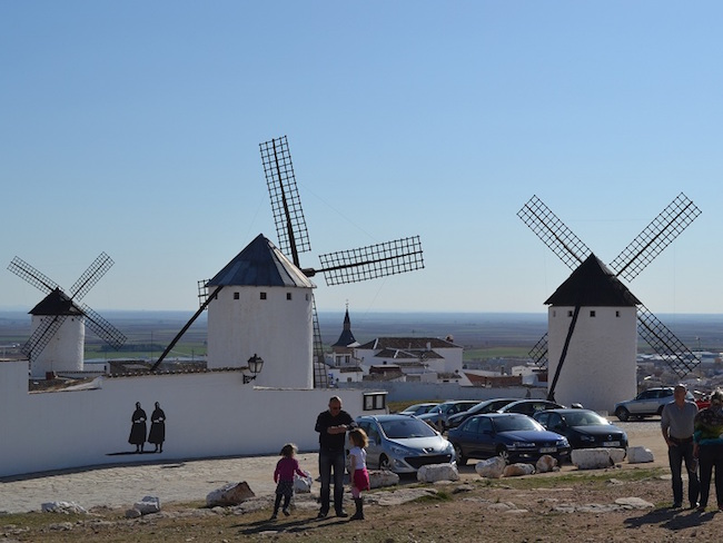 De molens van Don Quijote in Campo de Criptana (provincie Ciudad Real, Castillië La Mancha)