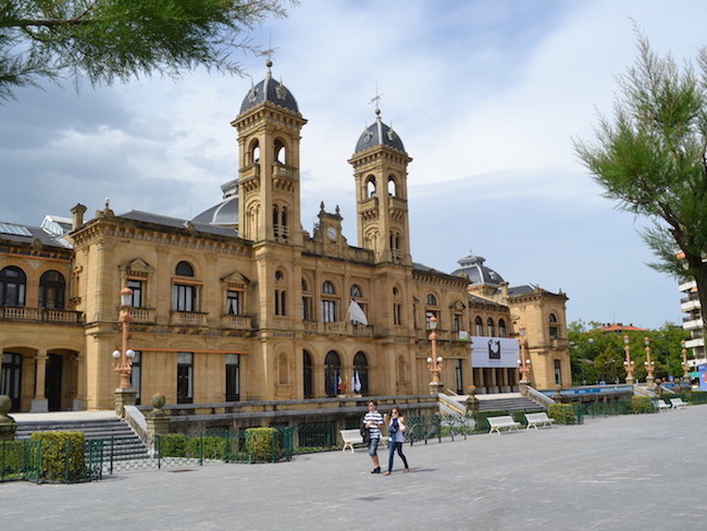 Vroegere casino en huidig gemeentehuis van San Sebastian (Baskenland, Spanje)