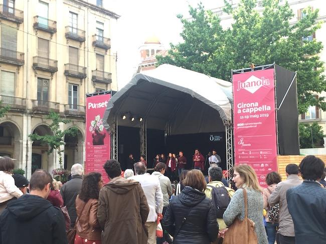 A Capella optreden tijdens bloemenfestival Girona
