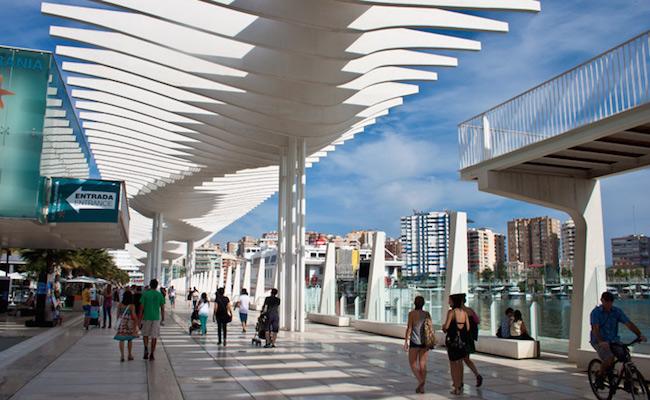 Malaga's hypermoderne pier Muelle 1