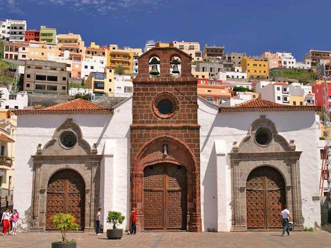 Kerk in San Sebastian op La Gomera (Canarische Eilanden)
