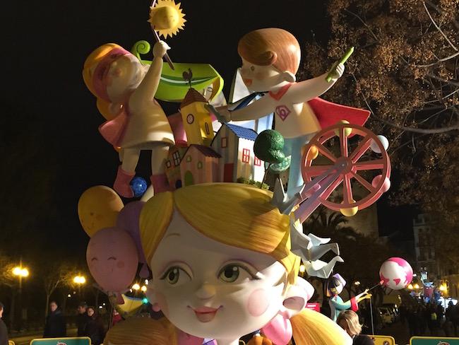 Beeld tijdens Las Fallas in Valencia