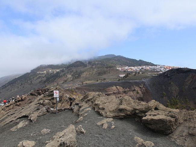 San Antonio vulkaan op het Spaanse eiland La Palma