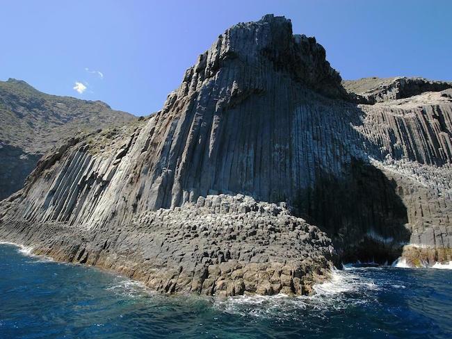 Los Órganos op La Gomera (Canarische Eilanden)