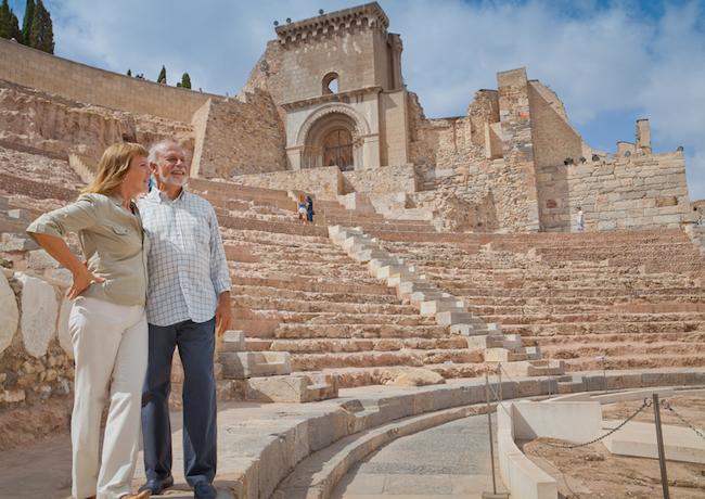 Het Romeins Theater van Cartagena in Murcia (Zuid Spanje)