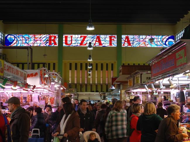 Ruzafa markt in Valencia stad