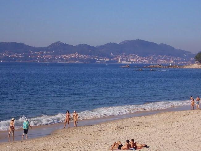 Het Samil strand van Vigo (Noord Spanje)
