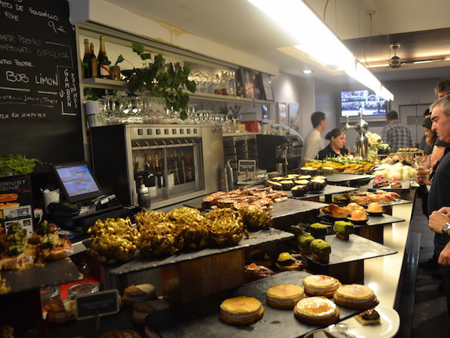 Pintxos bar in San Sebastian (Baskenland)