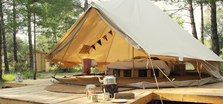 glamping in bedouine tent in Alicante Spanje
