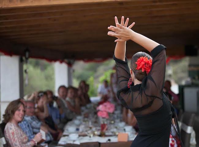 In de zomer worden er voor gasten van La Casita regelmatig Flamenco shows georganiseerd