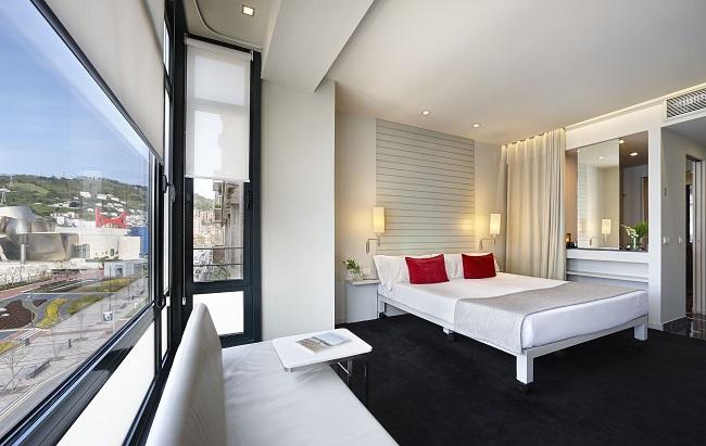 Deluxe Kamer in Hotel Miró, met uitzicht op het Guggenheim museum