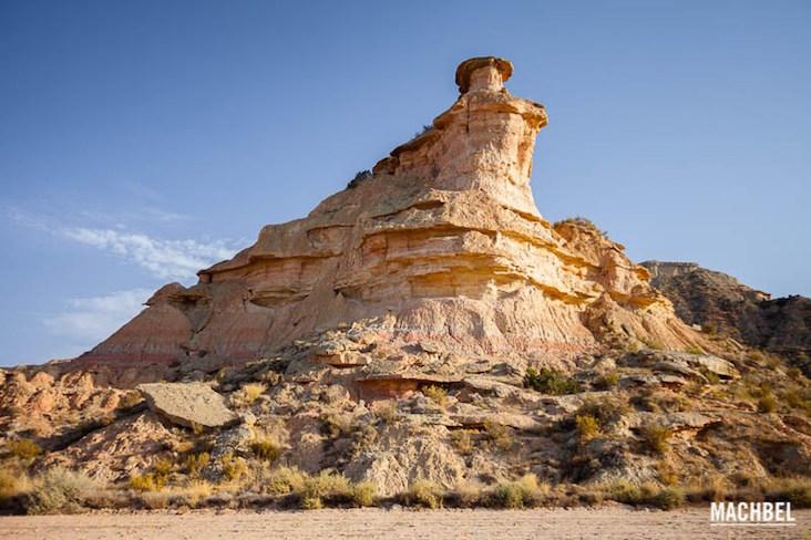 De woestijn van Los Monegros in de provincie Zaragoza (Aragon)