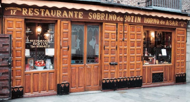 Botín - een van de oudste restaurants in Madrid