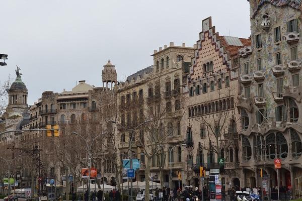 Barcelona de stad van Gaudí