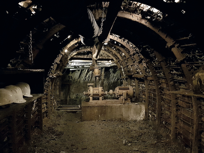 Mijnmuseum Ecomuseo Minero Valle de Samuño in Asturië (Noord Spanje)