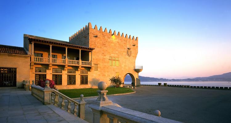 Het Parador hotel van Baiona in Galicië (Noord Spanje)