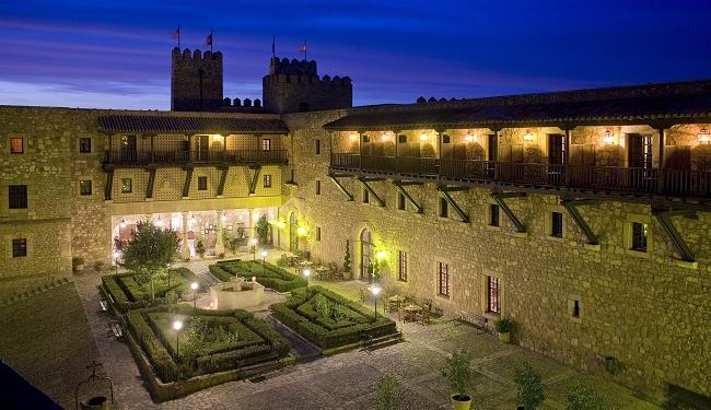 Het Parador hotel van Sigüenza, in de buurt van de Spaanse hoofdstad Madrid