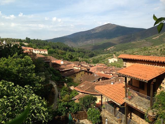 Robledillo de Gata in de Sierra de Gata in Extremadura