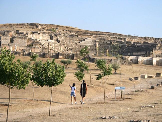 Het Romeinse theater in Segóbriga (Castillië La Mancha, Midden Spanje)