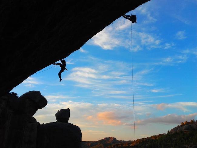 Absejlen van bergmassief Montsant in Catalonië