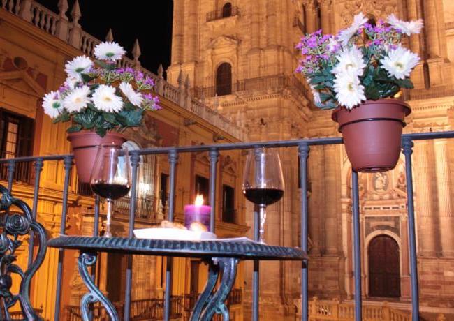 Een appartement met fantastisch uitzicht op de kathedraal van Malaga (Zuid Spanje)
