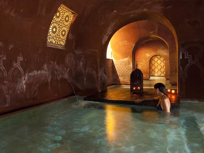 Ontspannen in de Arabische baden in Madrid