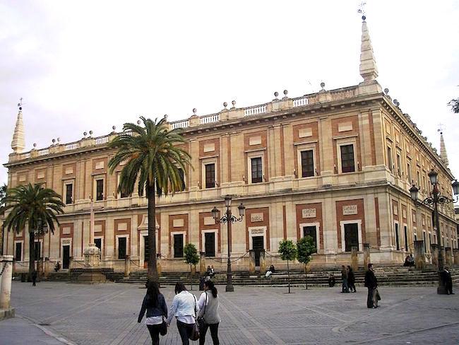 Archivo de Indias in Sevilla (Andalusië, Spanje)