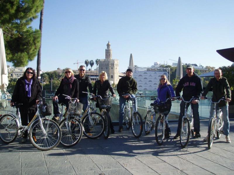 Originele fietstochten van Baja Bikes door Sevilla (Andalusië)