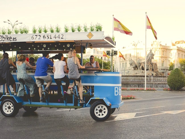 De bierfiets van Madrid