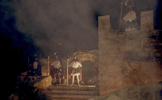 Scene uit het nagespeelde kerstverhaal in El Molar (regio Madrid)