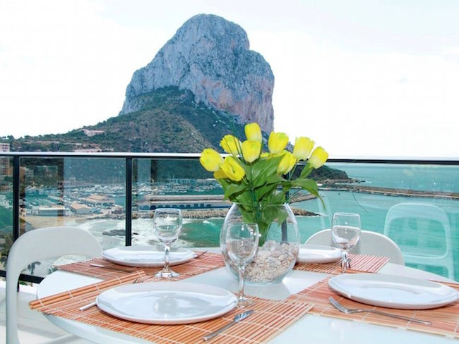 Appartement direct aan zee in Calpe aan de Costa Blanca