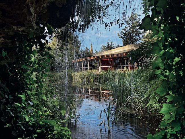 De botanische tuin van Gijón in Asturië (Noord Spanje)