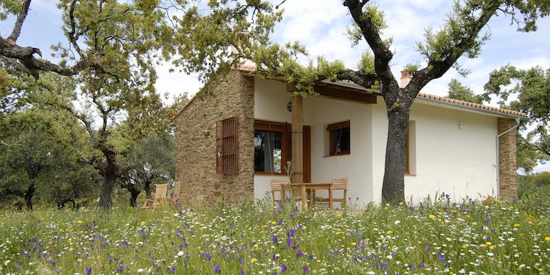 De rurale vakantiehuizen van Finca las Abubillas in Extremadura - midden tussen de steeneiken