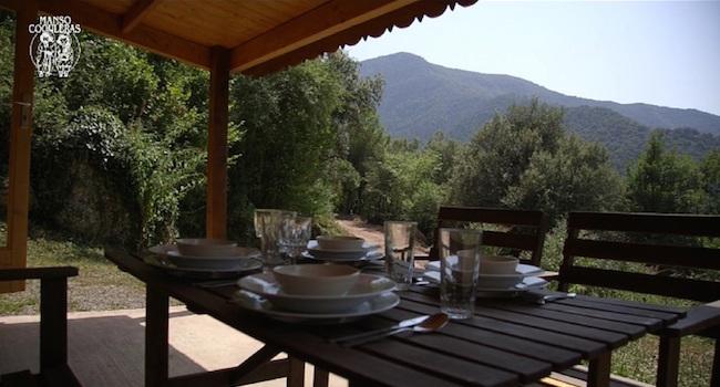 Uitzicht vanaf camping Manso Coguleras in de Spaanse Pyreneeën