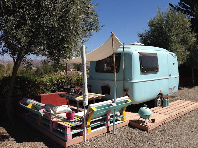 Gepimpte 2-persoons caravan op Glamping Finca Fahala (Zuid Spanje)
