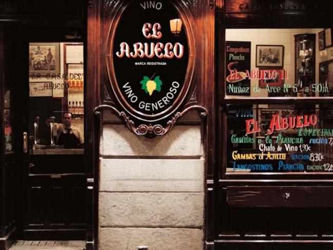 Restaurant La Casa del Abuelo, een van de oudste restaurants in Madrid (Spanje)