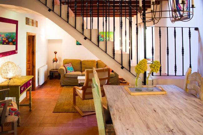 Woonkamer vakantiehuis Casa Josefa op landelijke Finca las Nuevas (Andalusië)