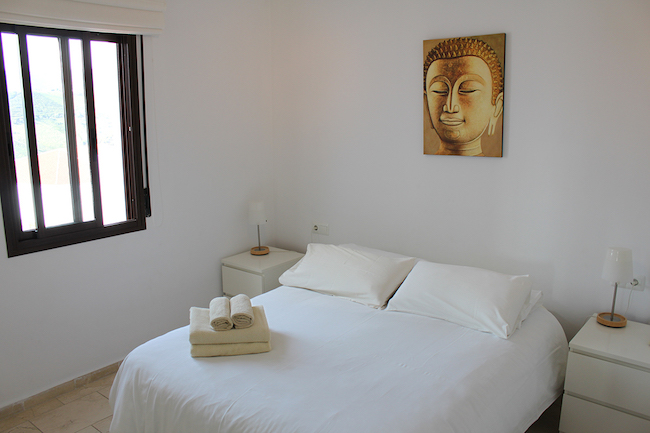 Slaapkamer van ons vakantiehuis in Frigiliana in de provincie Malaga