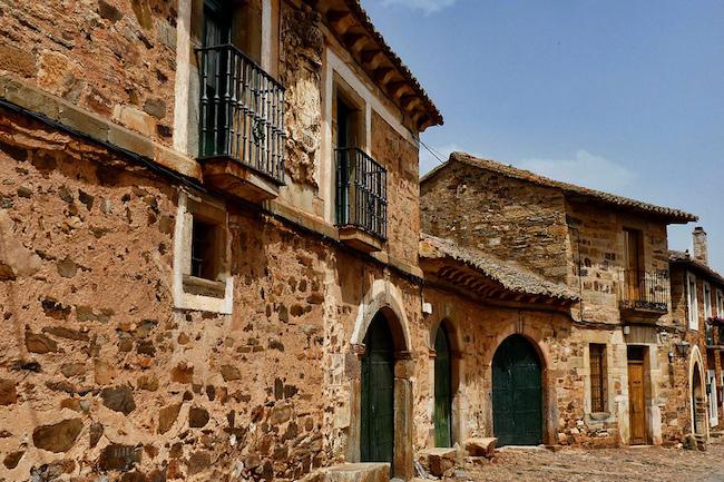 Het traditionele dorpje Castrillo de los Polvazares, op 5km van Astorga
