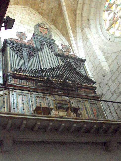 Het orgel in de Colegiata van Covarrubias in Castillië en Leon dateert uit de 17e eeuw