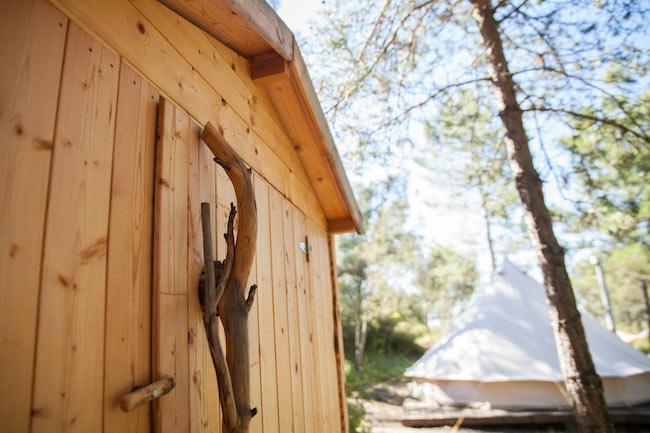 Privé Eco-toilet Forest Days Glamping in Spanje