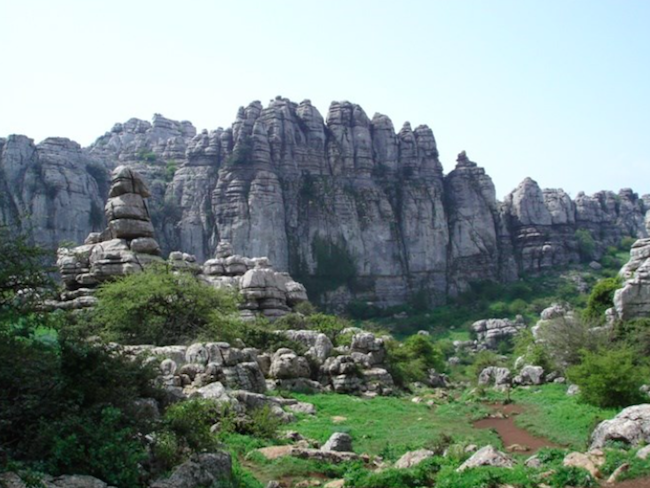 Rotsformaties El Torcal bij Antequera (Andalusië)