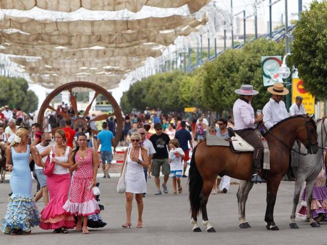 Flaneren op de Feria de Agosto van Malaga (Zuid Spanje)