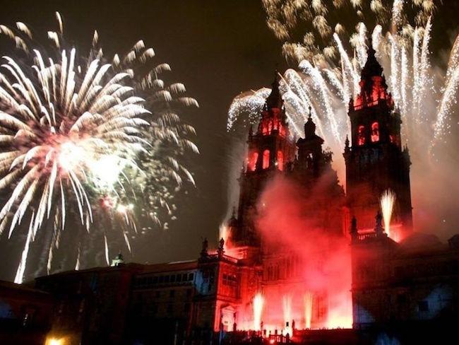 De Feesten van de Apostel in Santiago de Compostela (Noord Spanje)