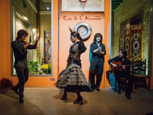 Een Flamenco optreden in Sevilla (Andalusië, Spanje)